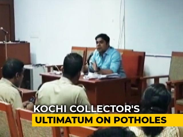 "Video : ""Fix Potholes Or Pay From Salary"": Kerala Officials Get A Severe Warning"