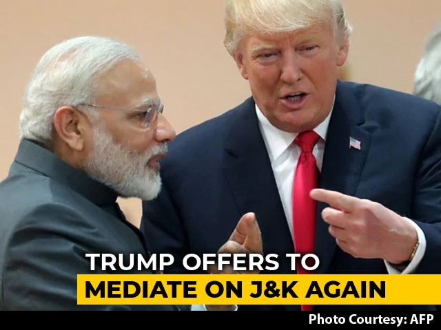 Video : Hours Before Talks With PM Modi, Trump Offers India-Pak Mediation Again