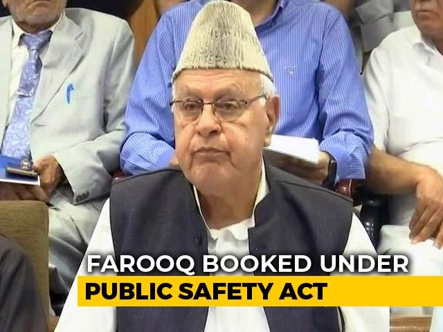 Video : Farooq Abdullah, 81, Detained Under Tough Public Safety Act