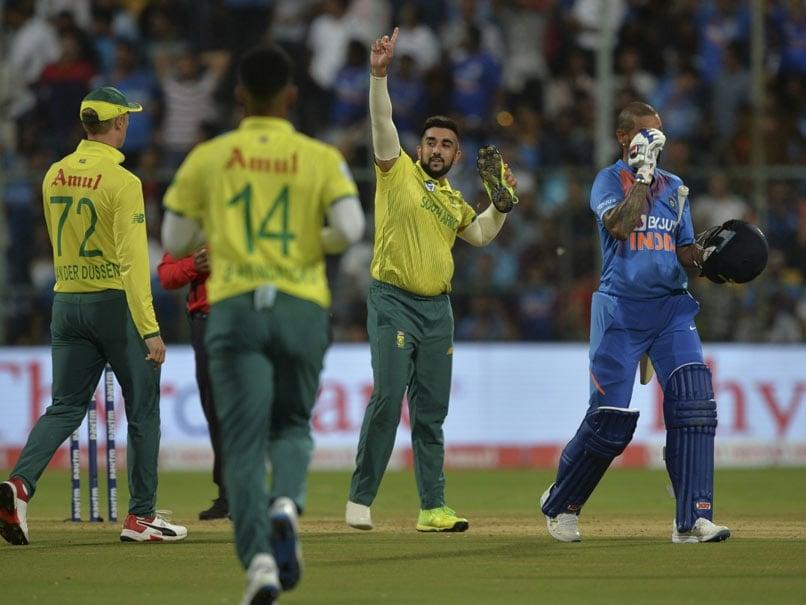 India vs South Africa: Tabraiz Shamsi Explains Shoe Celebration After Getting Shikhar Dhawan