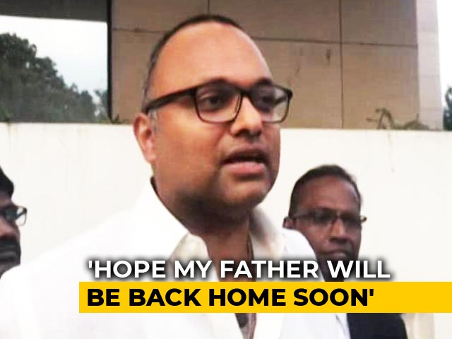 "Video : ""Don't Expect Chargesheet,"" Says Karti Chidambaram As Father Sent To Jail"
