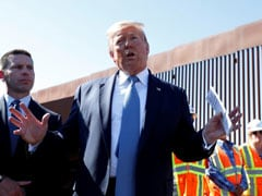 """Can't Be Climbed"": Trump Shows Section Of Wall At US Border With Mexico"