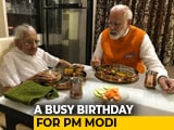 Video : PM Narendra Modi Celebrates His 69th Birthday Today Over Lunch With Mother