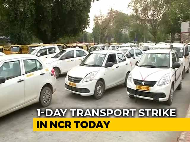 Video : Commuters Hit As Striking Delhi Transport Workers Stop Cabs