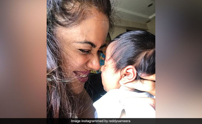 New Mom Sameera Reddy Is Finally Smiling After Battling 'Baby Blues And Postpartum'