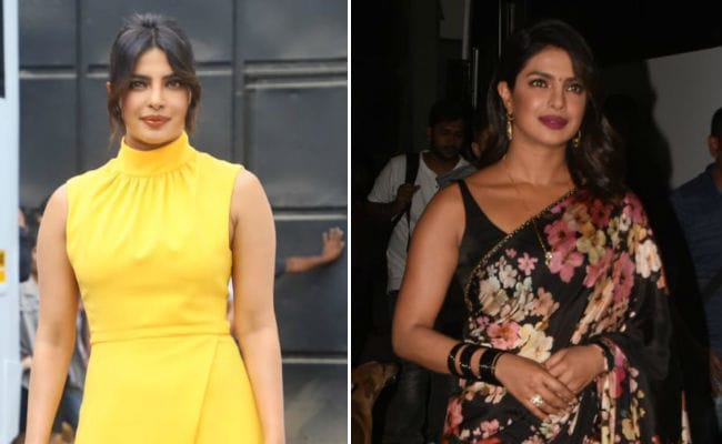 A Sunny Dress, A Sabyasachi Saree: Priyanka Chopra Is Twice As Nice For The Sky Is Pink Promotions