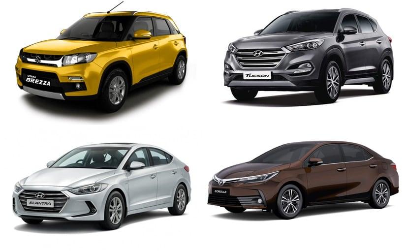 The Maruti Vitara Brezza, Hyundai Tucson, Elantra, Toyota Yaris & Corolla Altis get huge discounts