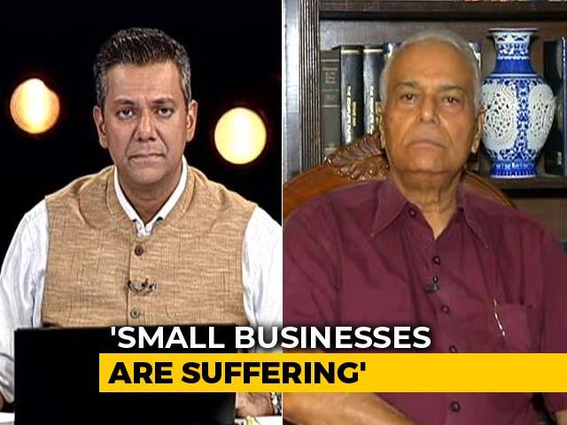 "Video : ""Talks Of $5 Trillion Economy, Doubling Farmer Income Are Jumlas"": Yashwant Sinha"