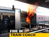 Video : Train Compartment Catches Fire At New Delhi Railway Station