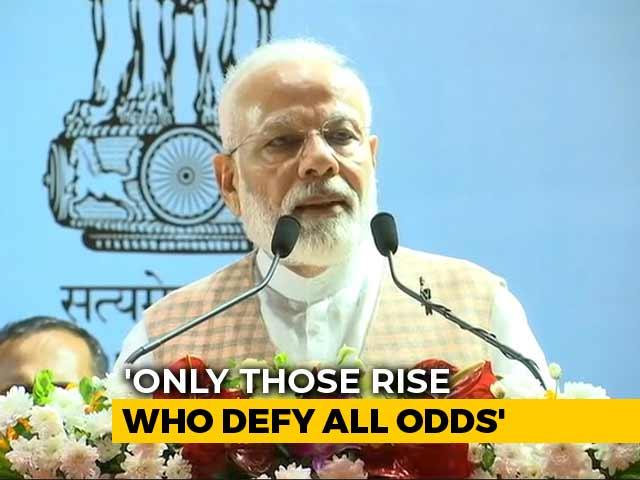 "Video : ""Heard About Mumbai Spirit, Saw Spirit Of ISRO Scientists Today"": PM Modi"