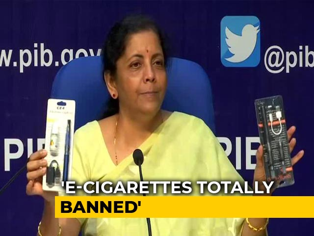 Video : E-Cigarettes Banned, Says Finance Minister Nirmala Sitharaman