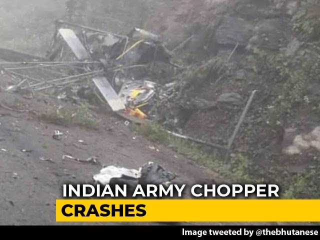 Video: 2 Killed As Indian Military Training Team's Helicopter Crashes In Bhutan