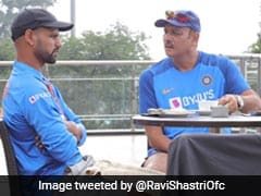 "Ravi Shastri, Shikhar Dhawan Discuss Cricket Over ""Coffee"" Ahead Of Dharamsala T20I"