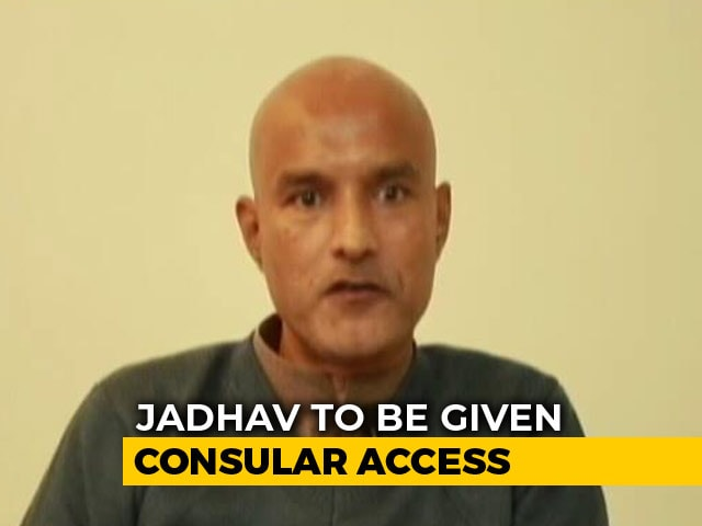 Video : Pak To Provide India Consular Access To Kulbhushan Jadhav Today