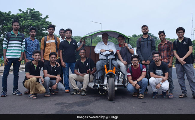 IIT Kharagpur Team Develops Electric Vehicle To Battle Pollution