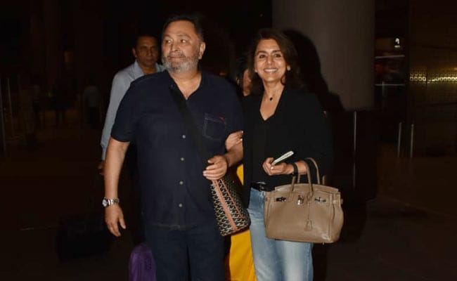 Rishi Kapoor heads home after treatment in NY