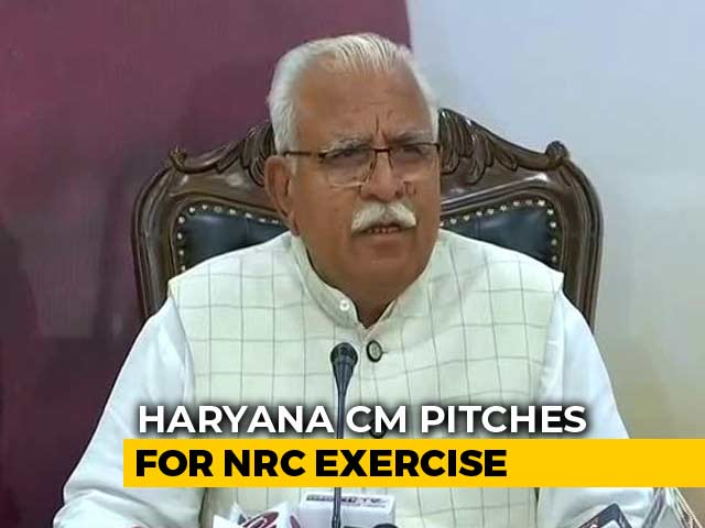 Video : Will Implement Assam-Like Citizens' List In Haryana, Says Chief Minister