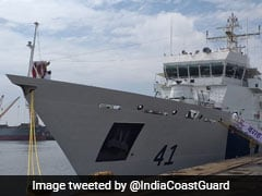 Indian Coast Guard Ship <i>'Varaha'</i> Commissioned By Rajnath Singh