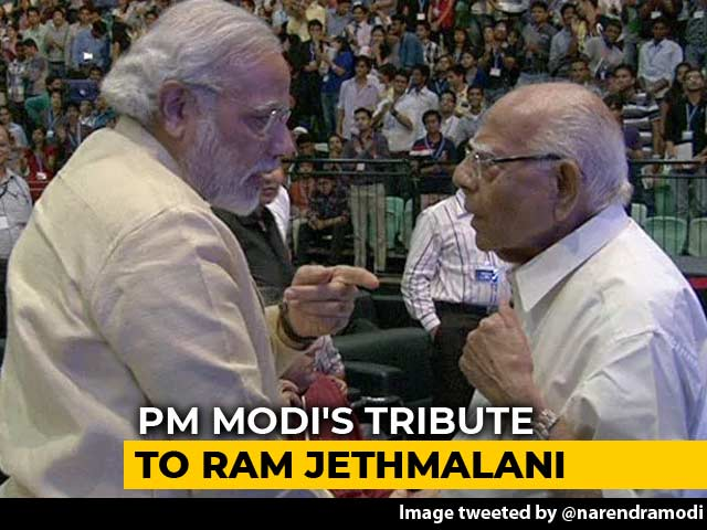 "Video : ""His Pioneering Work Will Live On"": PM Modi's Tribute To Ram Jethmalani"