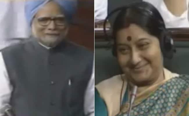 जब मनमोहन ने सुषमा की तरफ देखकर कहा था,  माना कि तेरी दीद (नजर) के काबिल नहीं हूं मैं... देखें Video