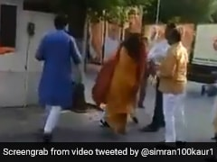 Delhi BJP Leader Seen Slapping Ex-Mayor Wife At Party Office