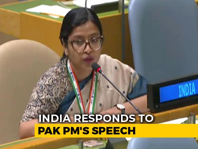 "Video : ""Can Imran Khan Deny Over 130 Terrorists Are On Pak Soil?"" India At UN"