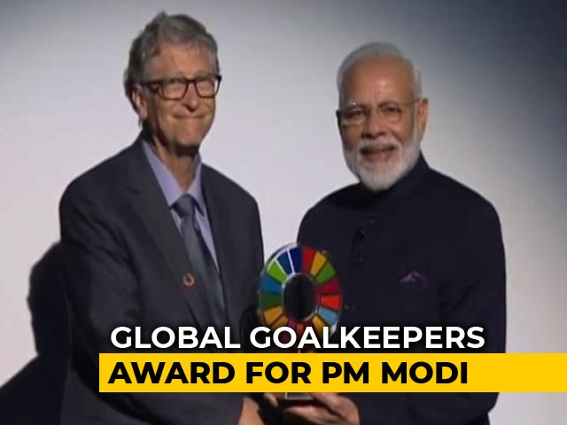 Video : PM Modi Receives International Award For 'Swachh Bharat' Campaign