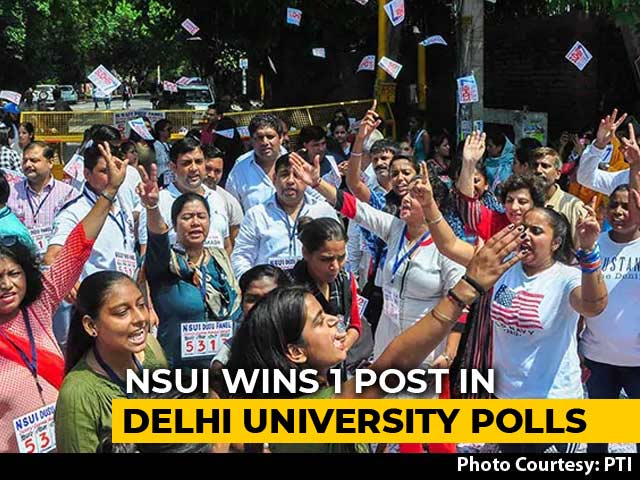 Video : Delhi University Students' Union Results: ABVP Wins 3 Posts, NSUI 1