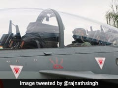 "Rajnath Singh ""Thrilled"" After Tejas Sortie, ""Controlled It"" Briefly"