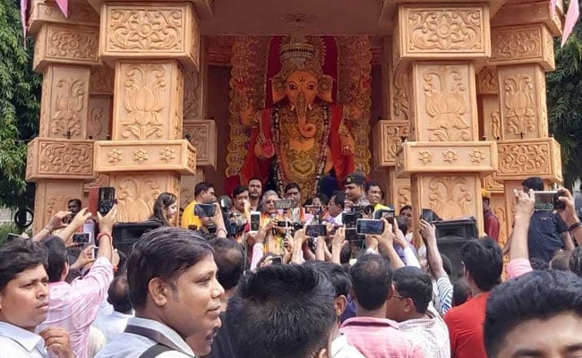 At Trinamool MLA's Ganesh Puja, BJP Top Guns Are Chief Guest