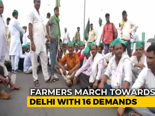 Video : Thousands Of UP Farmers On Way To Delhi As Talks Over Demands Fail