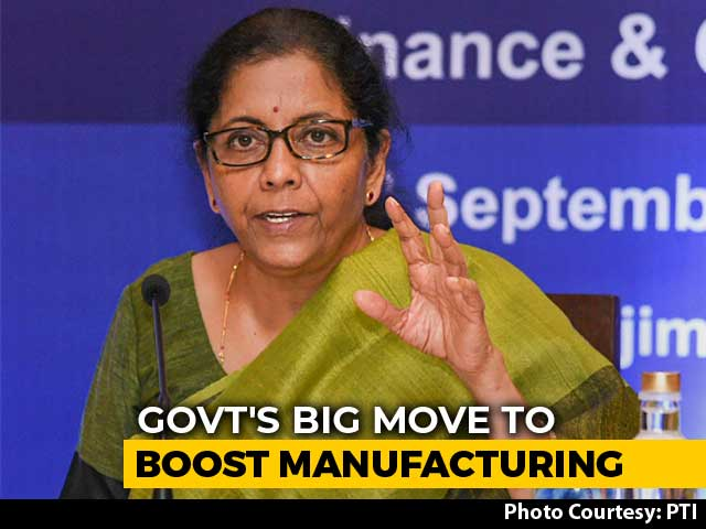 "Video : ""Will Boost Make In India"": Nirmala Sitharaman On Corporate Tax Cut"