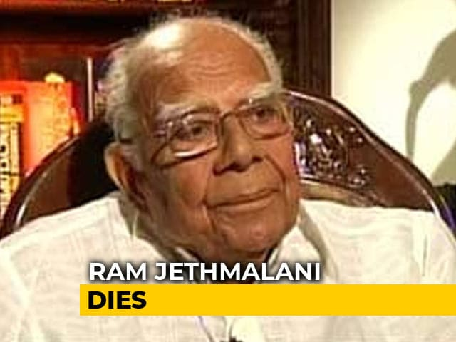 Video : Ram Jethmalani, Veteran Lawyer And Former Union Minister, Dies At 95