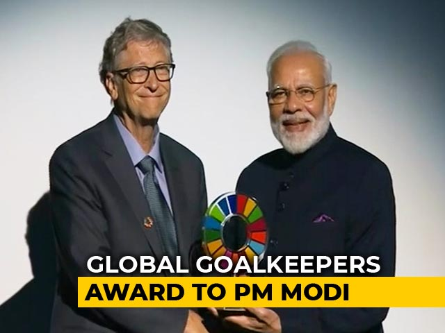 Video : PM Receives Award For 'Swachh Bharat' Abhiyan, Says Such Campaign Was Not Heard Of
