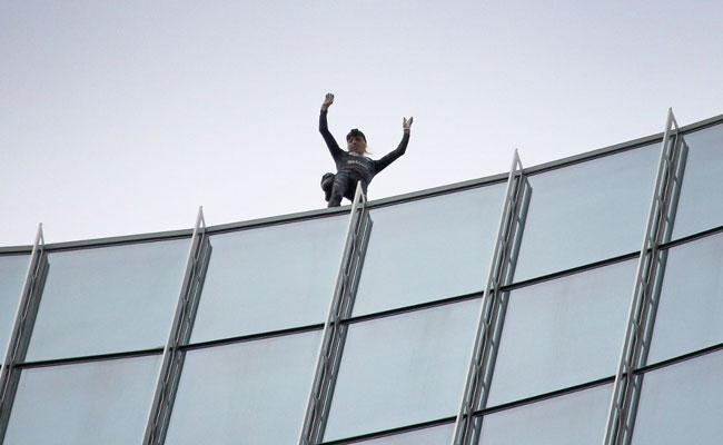 French 'Spiderman' Scales Skyscraper In Germany, Arrested