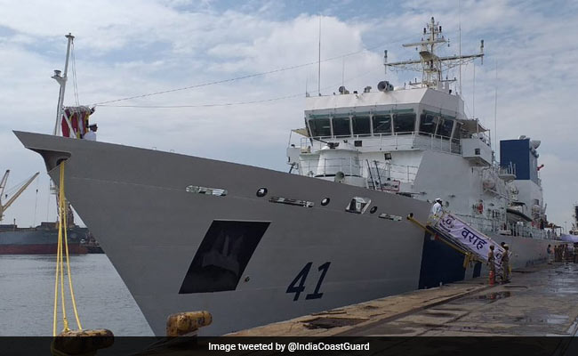 Indian Coast Guard Ship 'Varaha' Commissioned By Rajnath Singh