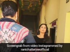 सीढ़ियों से उतर रही थीं भोजपुरी एक्ट्रेस रानी चटर्जी, तभी 'भाईजान' से हो गया सामना, फिर हुआ ऐसा- देखें Video