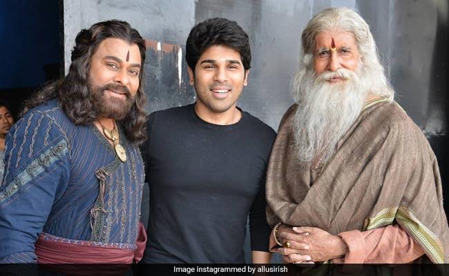 Allu Sirish's Fan Boy Moment With 'Legends' Chiranjeevi And Amitabh Bachchan