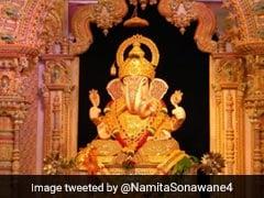गणेश चतुर्थी पर भक्त ने गणपति बप्पा को चढ़ाया 151 किलो का मोदक