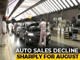 Video : Auto Sales Continue To Decline In August