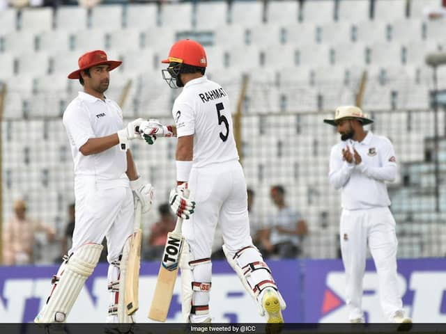 One-Off Test: Rahmat Shah Steers Afghanistan With Historic Century On Day 1
