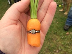 Man Proposes Girlfriend By Planting Carrot Inside A Diamond Ring