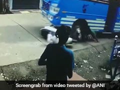 Watch: Man Escapes Unhurt After Bus Hits, Drags Him On Kerala Road