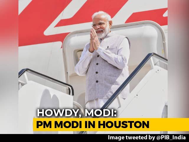 "Video : ""Howdy Houston!"" Says PM Modi, Will Address Mega Event Today"