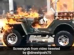 """Gujarat Man Set Jeep On Fire After """"It Didn't Start"""", Friend Shot Video"""