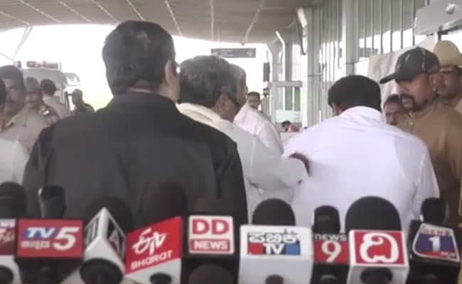 'Out Of Affection,' Says Siddaramaiah, Seen Slapping Aide At Airport