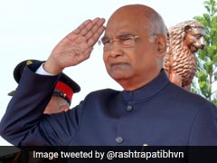 President Kovind Presents President's Colours To Army Aviation Corps