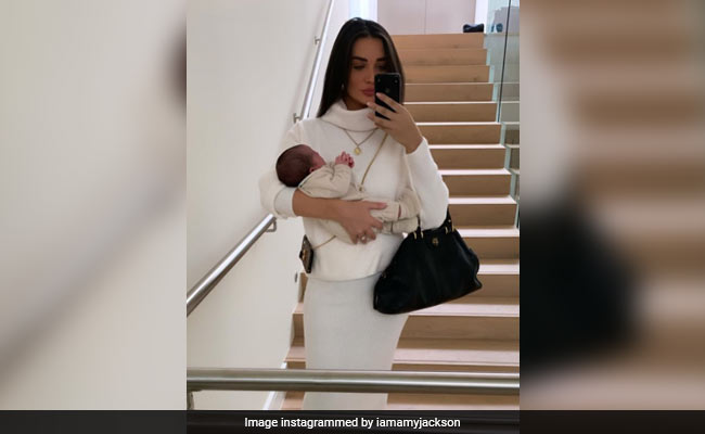 New Mom Amy Jackson Shares Pics From Son Andreas' 'First Day Out'