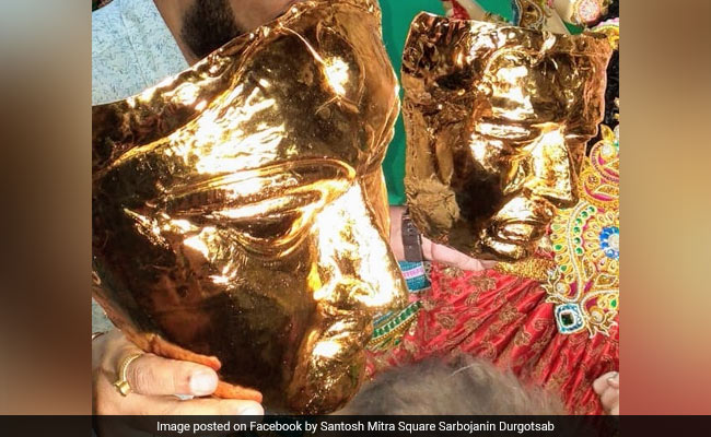 In The Making, A Gold-Plated Idol Of Goddess Durga Worth Rs 20 Crore