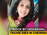 Video : Chennai Techie Dies, AIADMK Banner Falls On Her, Then Hit By Truck